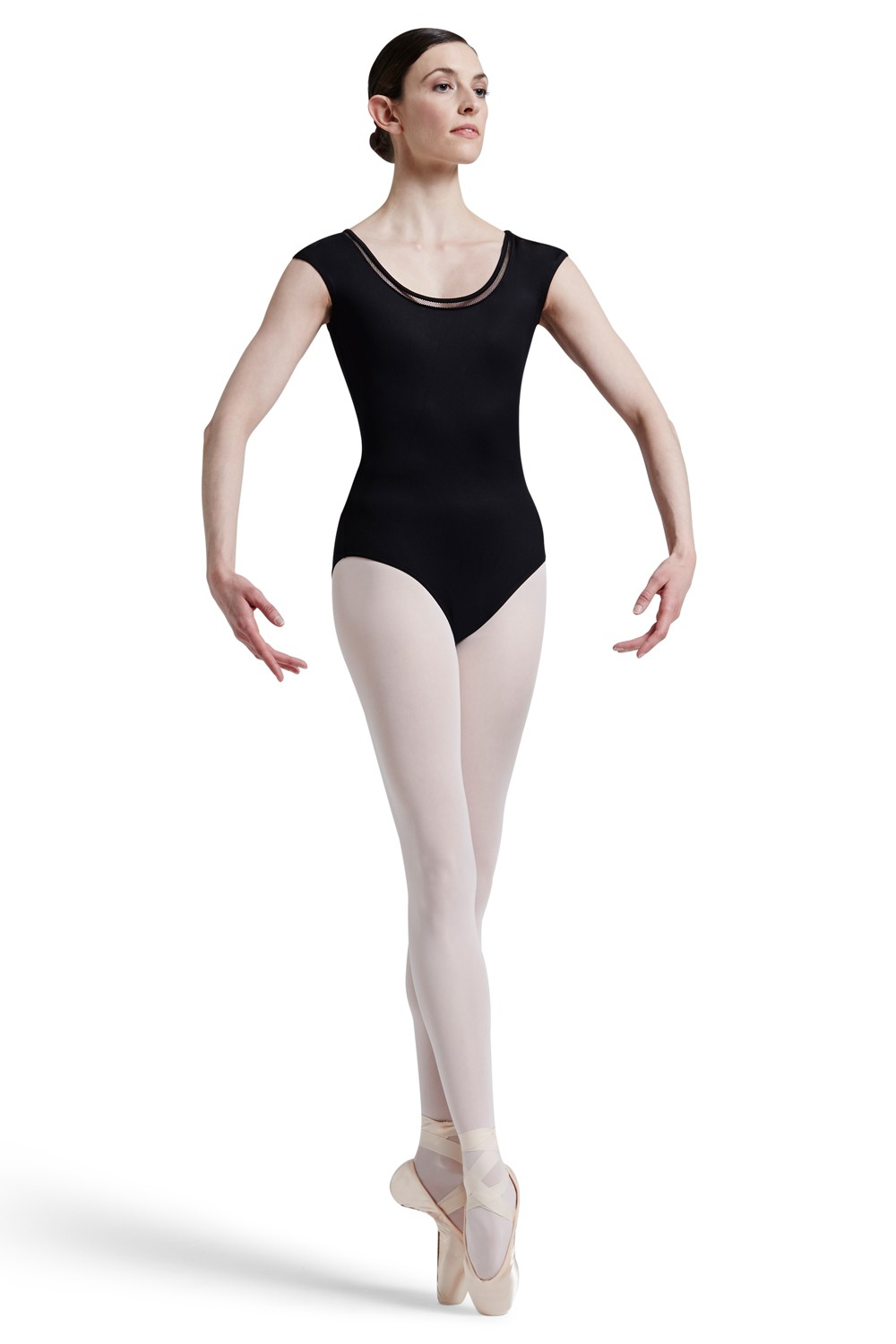 Mirella Lattice Elastic Trim Neckline With Open Ba Women's Dance Leotards