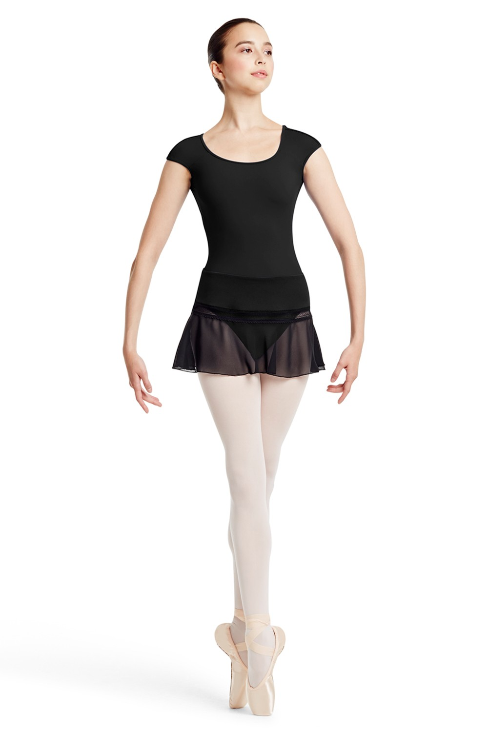 Shldr Trim Cap Sleeve Women's Dance Leotards