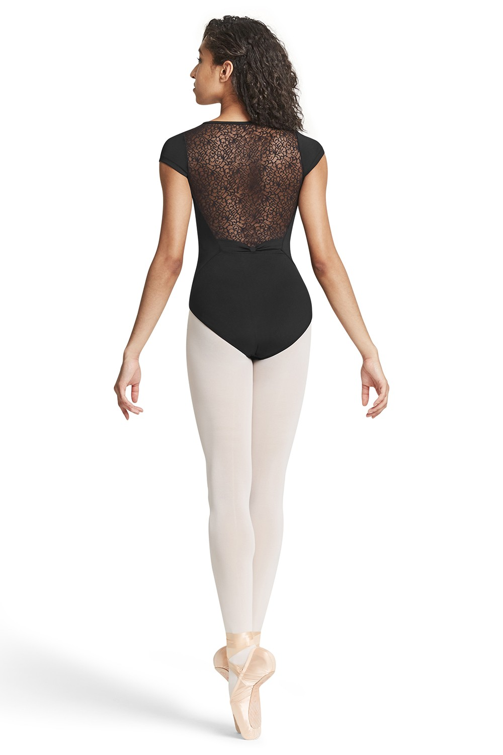 Bow Detail Cap Sleeve Leotard Womens Short Sleeve Leotards