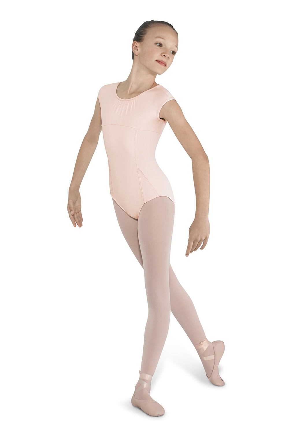 Picot Trim Cap Sleeve Children's Dance Leotards
