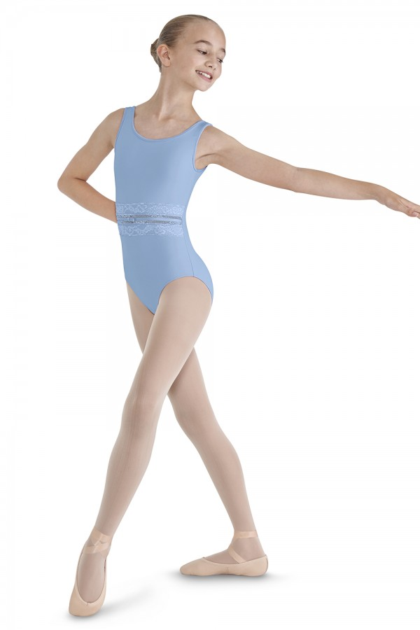 image - Lace Front Tank Leotard Children's Dance Leotards