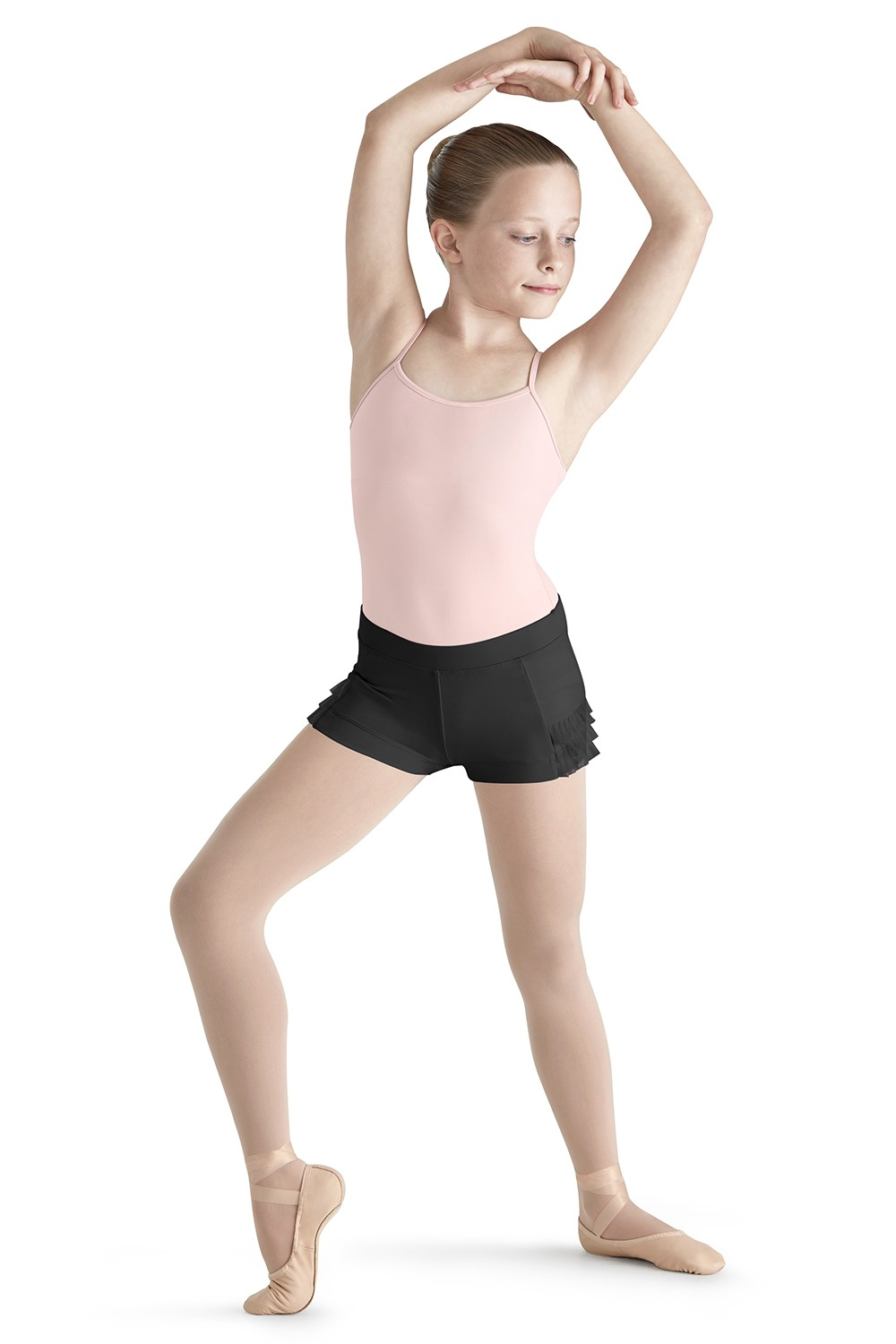 Pleated Tulle Short Children's Dance Shorts