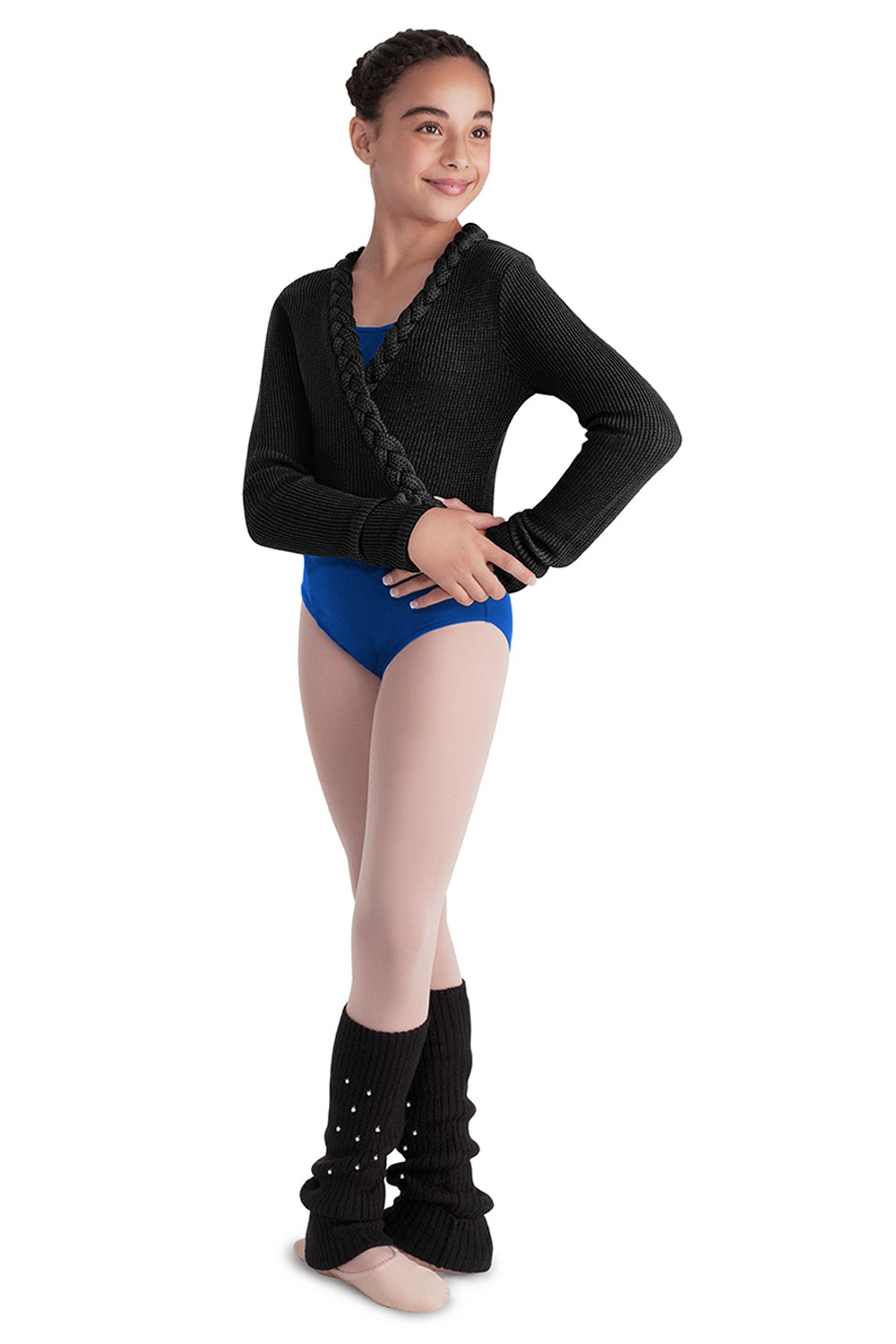 Plaited Knit Wrap Top Children's Dance Warmups