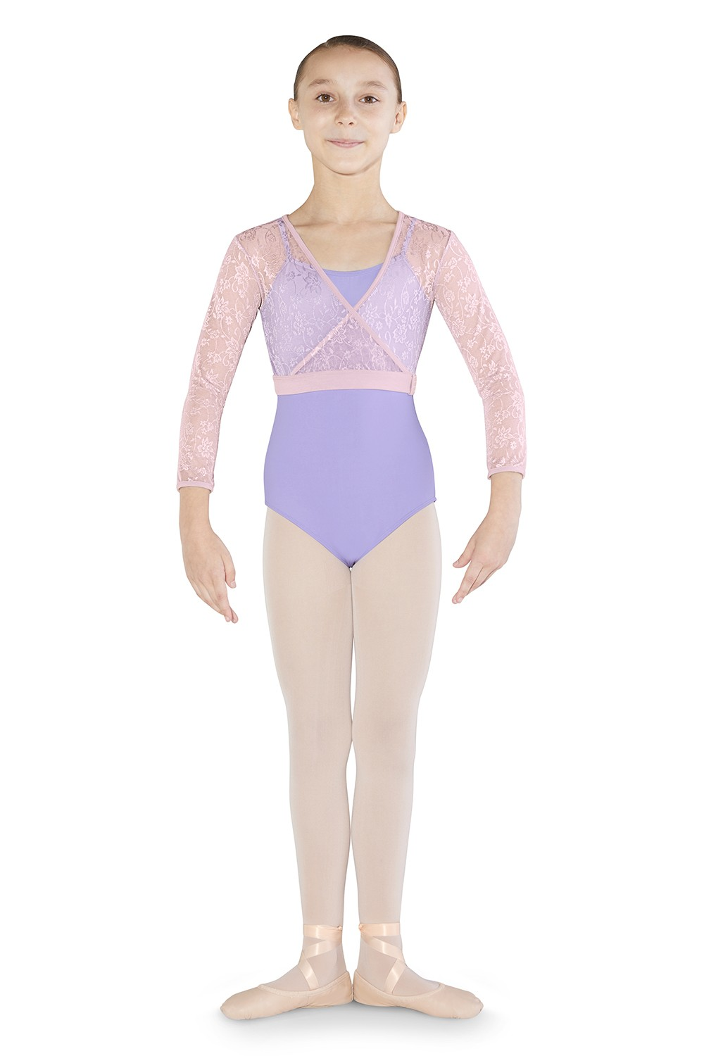 bb951d4a2 On selected styles and colors. Mesh Wrap Top Children's Dance Tops