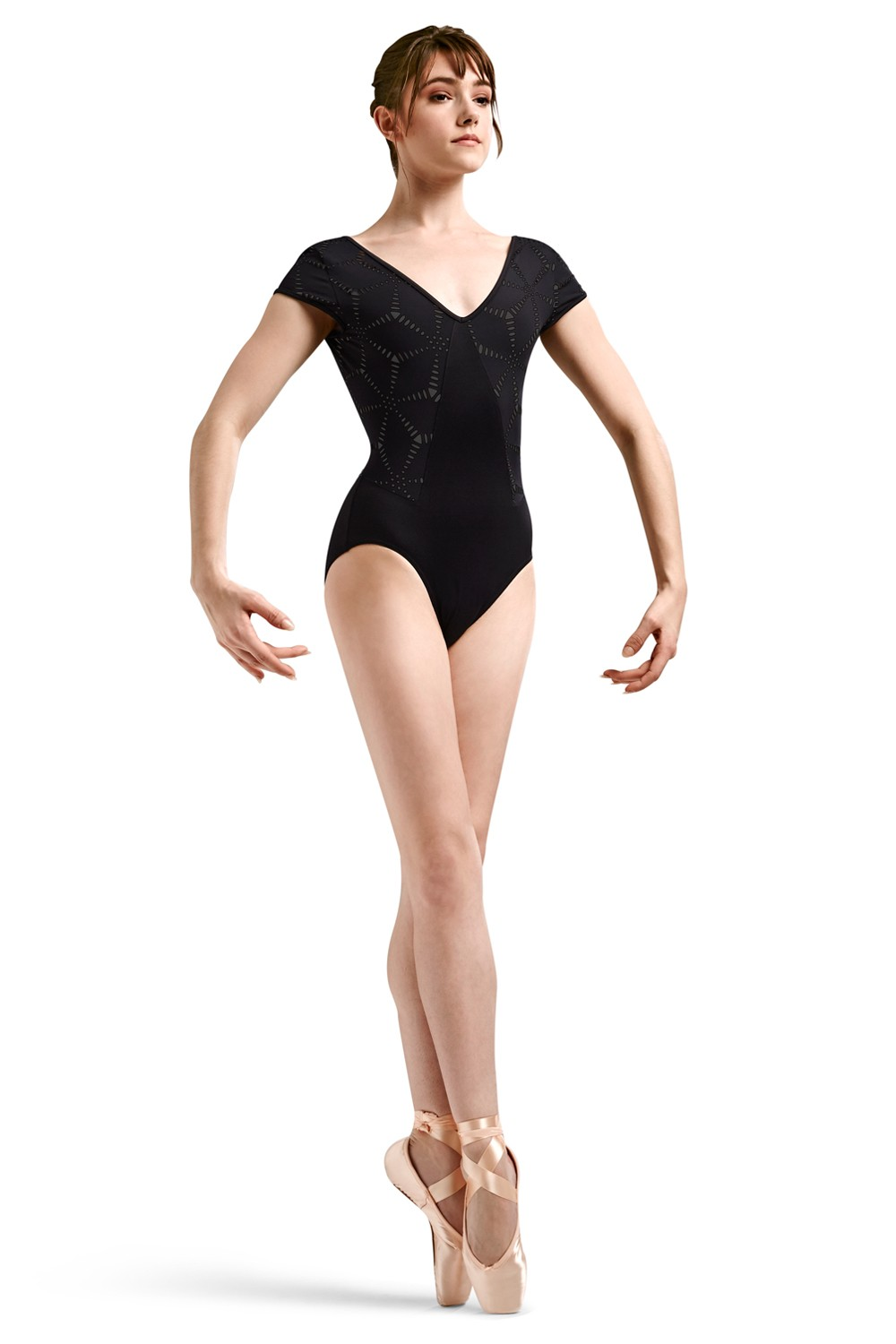 Jfm Origami Laser Cutout Women's Dance Leotards