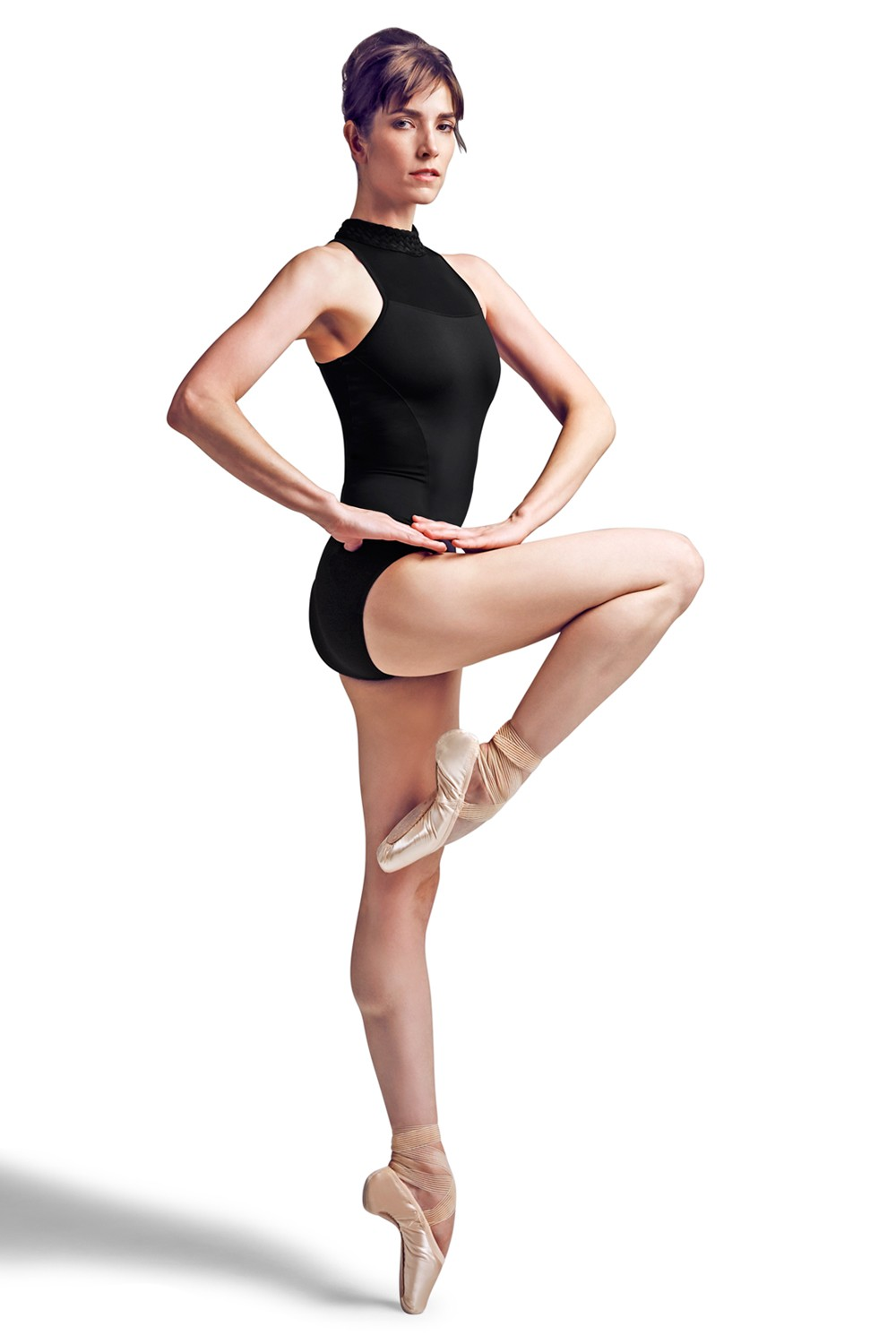 Plaited Neck, Zip Back Leo Women's Dance Leotards
