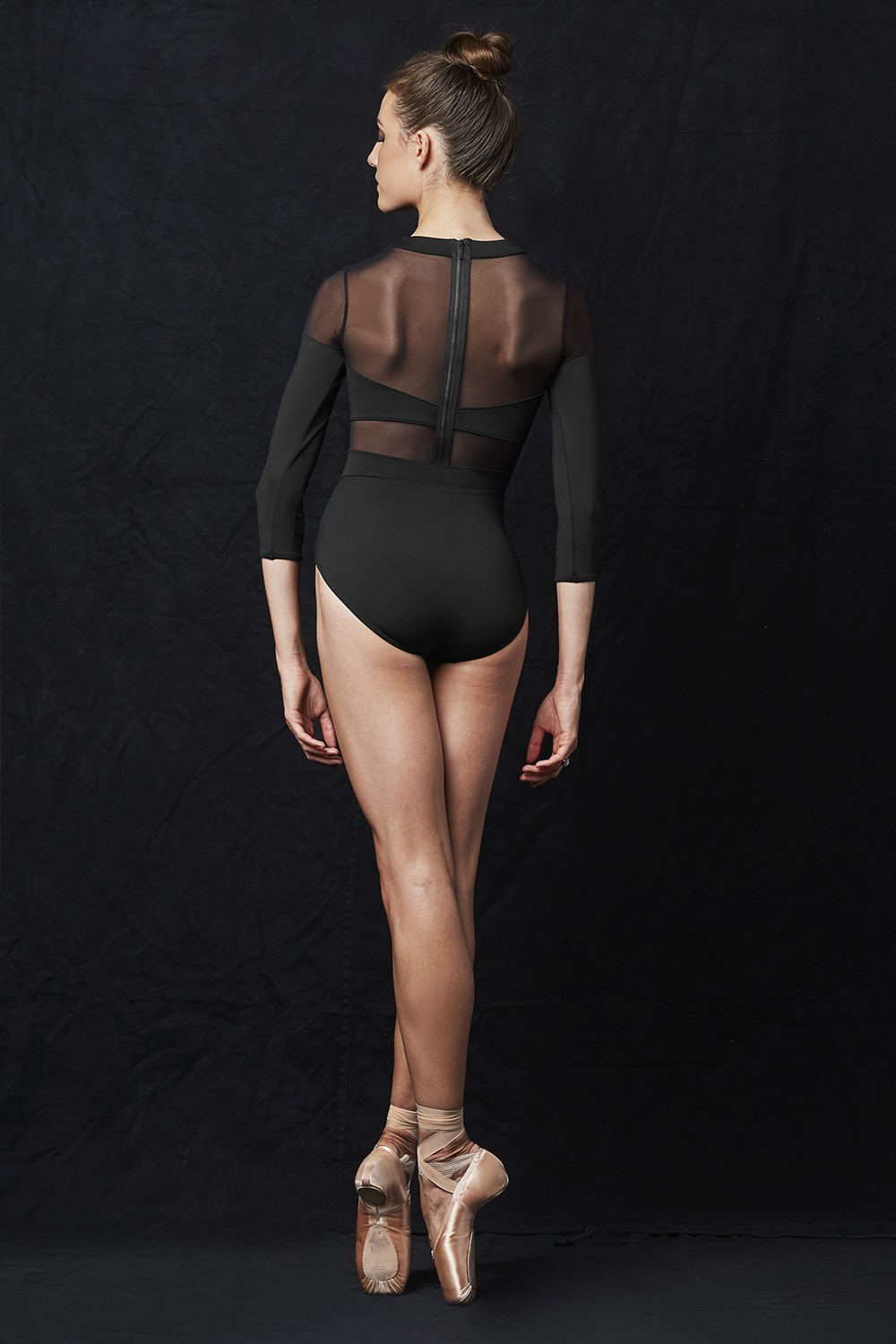 Cut Out 3/4 Sleeve Leotard Women's Dance Leotards
