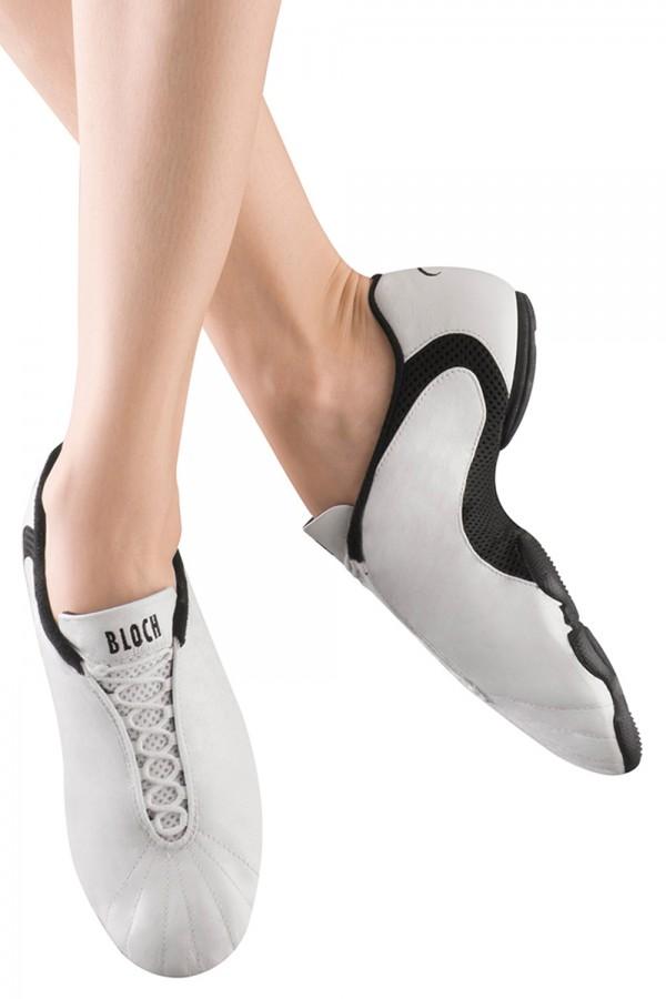 size UK 2 Bloch amalgam black split sole dance sneakers