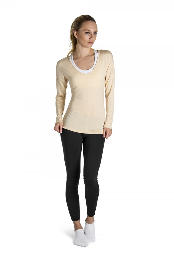 image - Rib Sleeve Jersey Top Women's Tops