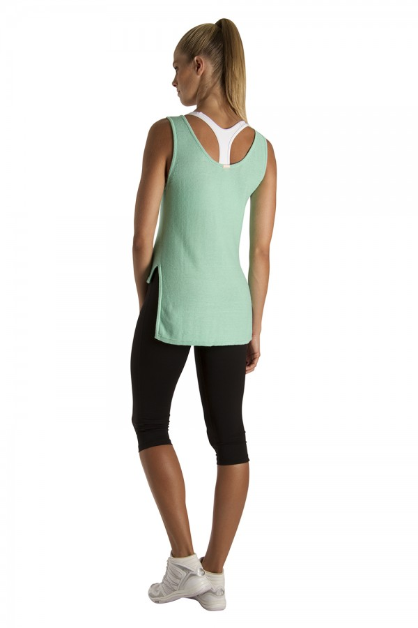 image - High Low Knit Tank Women's Tops